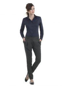 Tenue de vente chemise oxford manches longues