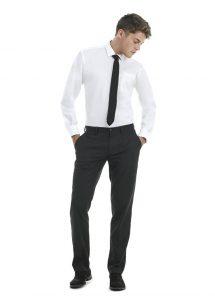 Tenue de vente chemise oxford manches longues homme