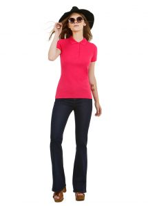 Polo femme rose personnalisable